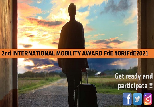 II Award 'International Mobility FdE #ORIFdE2021'